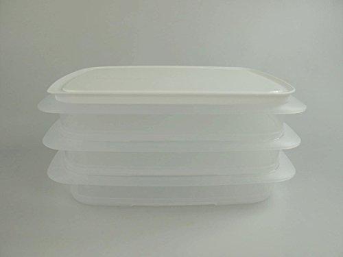 TUPPERWARE Cool`N Fresh 700ml Behälter (3) +Verschluss weiß Coolsmart Deckel K42