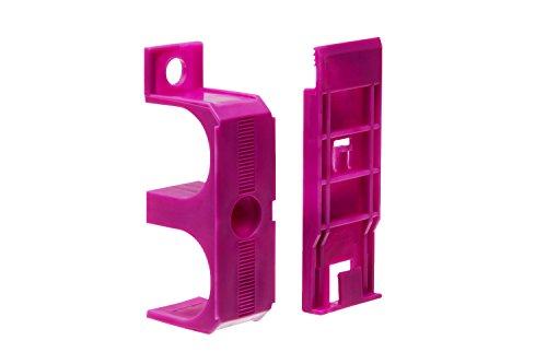 Primo Rohrverkleidung Montageschellen Set 4 Stück | Montageclip für unsichtbare Sockelleisten Befestigung | passend zu Heizrohrverkleidung 110mm | Inhalt 4 Stück für Leiste 2m