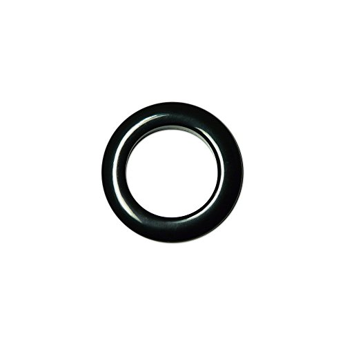 Oeillets à Clipser pour Rideaux Coloris Noir - diamètre 35 mm - Lot de 8