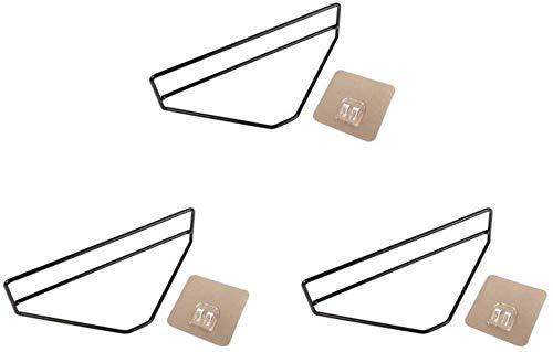 Zfggd Creativa pared de hierro forjado colgar de la pared for colgar simple triángulo zapatero gratuito de perforación de pared zapatillas de baño rack for el hogar Zapatos puso almacenaje de artefact