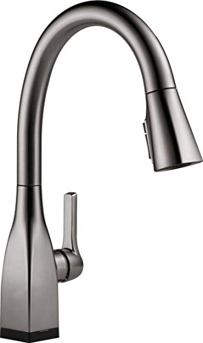 Delta Faucet Mateo Single-Handle Touch Kitchen Faucet with Pull Down Sprayer, Kitchen Sink Faucet Touch, Delta Touch2O Technology, Black Stainless 9183T-KS-DST