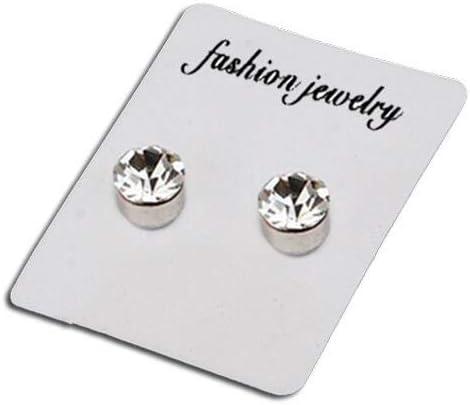Alicenter(TM 1 Pair Magnetic Non Piercing Clip On Magnet Ear Stud Men Women Fake Earrings 4mm