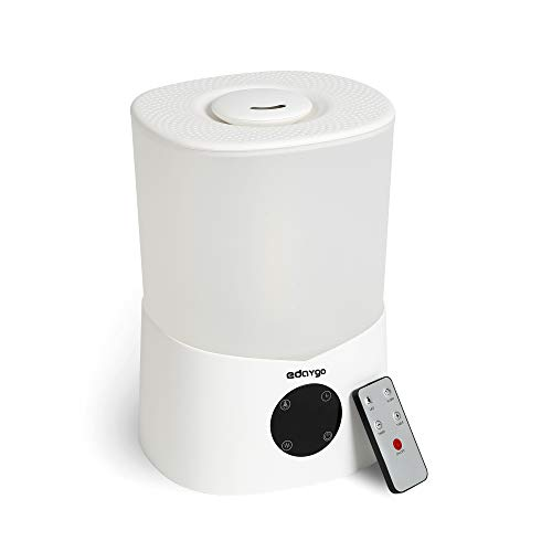 Edaygo Luftbefeuchter mit Fernbedienung Raum-Befeuchter Aroma Diffuser, 3,2 Liter Top-Füllung, 7-farbige LED, Leise, Automatische Abschaltung