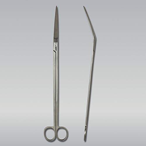 JBL ProScape Tool S 30 curved 61544, Gewinkelte Trimmschere für die Pflanzenpflege in Aquarien