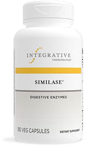 Integrative Therapeutics - Similase - Physician Developed Digestive Enzymes for Women and Men - Relieves Occasional Gas and Bloating - Vegan - 180 Veg Capsules
