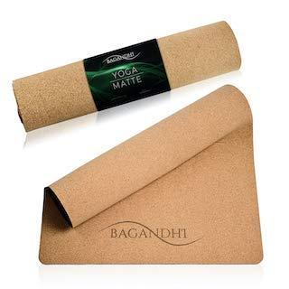 Kork Yogamatte Ganz OHNE Plastik INKLUSIVE Tragetasche und Gurt. Fairer Preis für ein faires Produkt