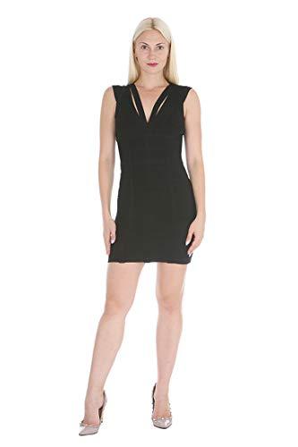 Bebe Damen Bandaged Cocktail Dress Kleid, schwarz, Groß