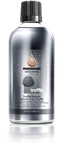 Moroccan Gold Series Black Truffle Serum – Anti Frizz Hair Serum for All Hair Types – Lightweight Hair Oil Enriched with Proteins and Amino Acids, Adds Shine, 3.38oz