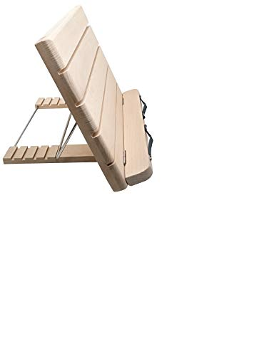 Poplarブックスタンド 折りたたみ 読書台 本立て ブックホルダー 木製 卓上筆記台 譜面台 5段階調節 書見台 角度調整可能 姿勢改善 腰痛/猫背解消 滑り止め 折りたたみ式 持ち運び便利 肩こり解消
