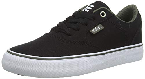 Etnies Unisex-Kinder Kids Blitz Skateboardschuhe, Schwarz (592-Black/Olive 592), 35.5 EU