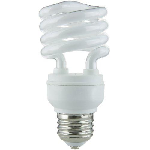Sunlite 00807-SU Mini Spiral CFL Light Bulb, 13 Watts (60W Equivalent), Medium Base (E26), 900 Lumens, 10,000 Hour Life Span, UL Listed, 1 Pack, 65K - Daylight