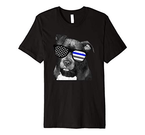 K9 Police Officer Police Pitbull Thin Blue Line Gift Premium T-Shirt