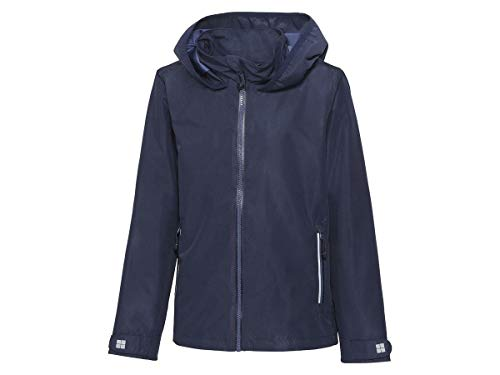 Crivit Mädchen Regenjacke Übergangsjacke Jacke spring jacket transitional jacket Atmungsaktiv Winddicht und wasserdicht Navy Blau (152)