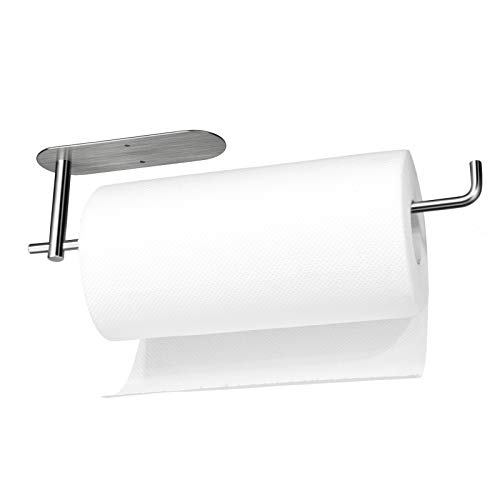 Paper Towel Holder Under Kitchen Cabinet - Self Adhesive Paper Towel Holder for Jumbo Rolls Wall Mount Both Available in Adhesive and Screws, SUS304...