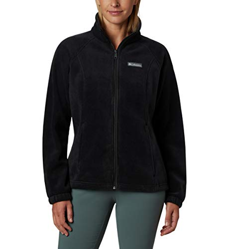 Columbia womens Benton Springs Full Zip Fleece Jacket, Black, Small US