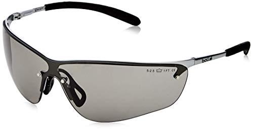 Bolle SILPSF Brille Metallrahmen mit Tipgrip PC Anti-Scratch und Nebelglas, Rauch