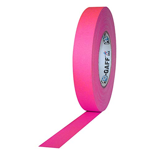 Pro Gaff/Gaffers Tape .5, 1, 2, 3, 4 Inch Widths X Variable Lengths, 1 Inch, Fl. Pink