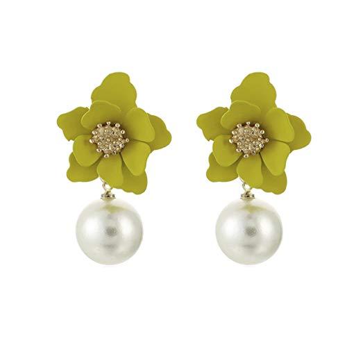 Hermosa hoja de cristal de Perla Oro Diamante Hecho A Mano Botones Beads Elegante Nueva