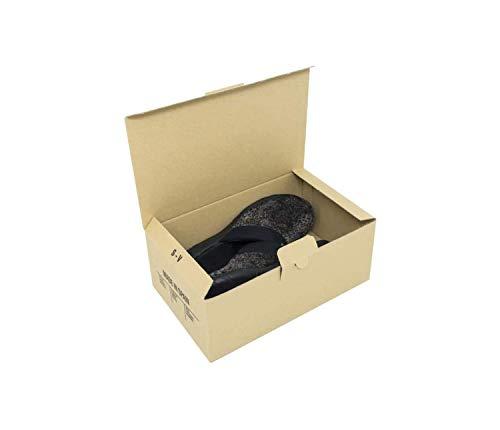 Cajeando | Pack de 10 Cajas de Cartón Automontables para Zapatos | Tamaño 28 x...