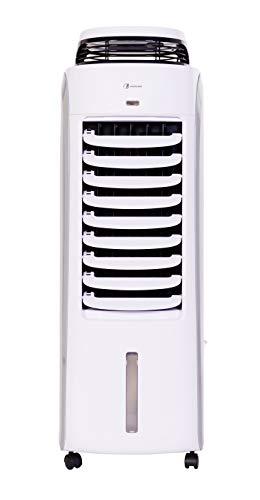 HAVERLAND BAE | Climatizador Evaporativo Portátil Bajo Consumo | hasta 35 m² | Función Humidificador | Silencioso | 8 Velocidades | Oscilante | 120W | Gran Tanque 13L | Blanco