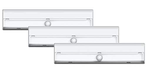 Brilliant Evolution Wireless LED Stair Lights 3 Pack | LED Motion Sensor Light | Closet Light| Battery Operated Light | Stick On Lights | Motion Activated Indoor Step Lights | Motion Night Light