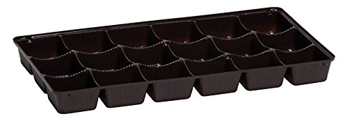 New Brown Candy Trays, 18 piece 3 Row - Case of 500