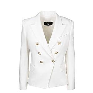 Balmain Luxury Fashion Damen TF17110V0900FA Weiss Viskose Blazer | Frühling Sommer 20