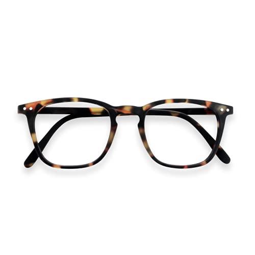 Lesebrille für Herren und Damen, groß, gefederter Reißverschluss, zertifizierte Gläser, Schildkrötenblau