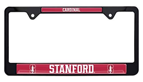 Elektroplate Stanford Cardinals Black License Plate Frame