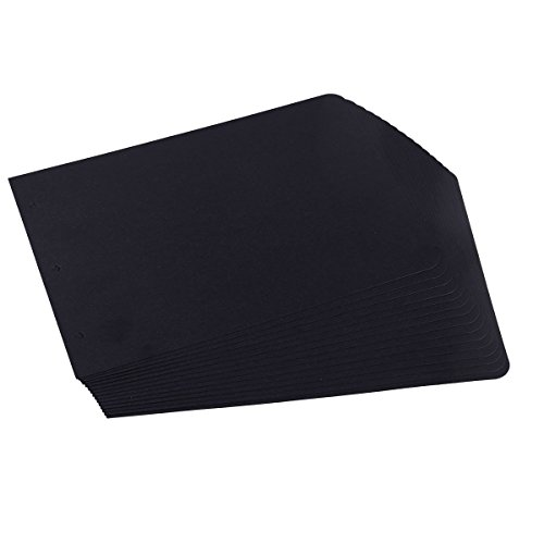 SICOHOME Refill Pages,Pack of 15,Black Sheets,10.5 by 7.0 Inches,