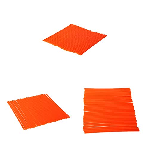MagiDeal 108pcs Motocross Dirt Bike Wheel Rim Spoke Wraps Skins Covers Orange