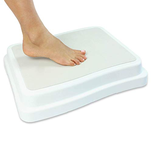 Vive Bath Step (4 inch) - Slip Resistant Shower Stepping Stool - Elevated Bathroom Safety Aid for Handicap, Elderly Seniors Entering, Exiting Bathtub - Nonslip Heavy Duty Bathtub, Bed, Kitchen
