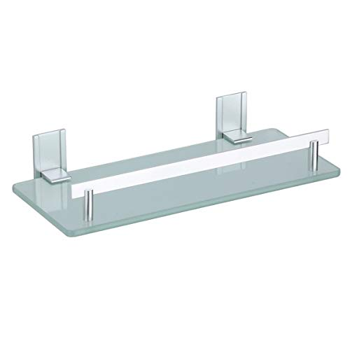 MSV Bad Regal 'Tabarca' Eckregal Duschregal aus Aluminium und Glas - kleben und bohren