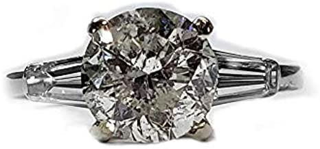 2.30ct. Diamond Traditional Style Platinum Engagement Ring