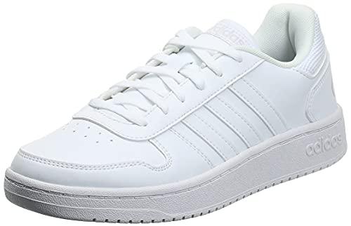 adidas Hoops 2.0, Scarpe da Basket Donna, Bianco Ftwbla Ftwbla Ftwbla 000, 38 EU