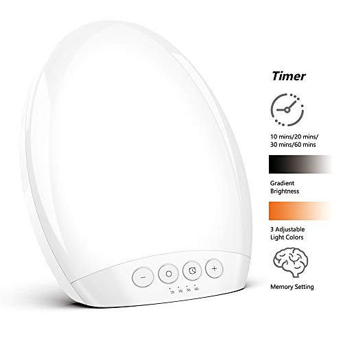 Lowest Prices! (Upgraded Version) TECBOSS Light Therapy Lamp,All Screen 10000 Lux Brightness,Memory Settings,3 Adjustable Colors and 5 Adjustable Brightness Levels,Sun Lamps for Seasonal Depression