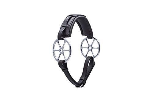 Stübben STEELtec Gebisslose Zäumung 2194 Sonnenrad/Flower Ring (Warmblut, schwarz)