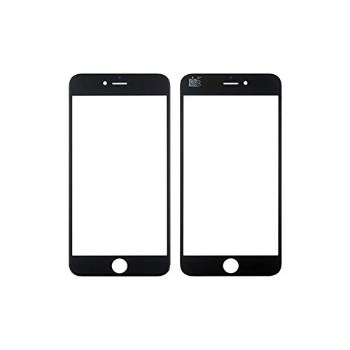 HOUSEPC Cristal Frontal De Vidrio para iPhone 6 Plus - Pantalla Táctil Negra 6s Plus