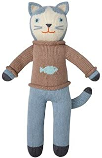 Blabla Sardine The Cat Plush Doll - Knit Stuffed Animal for Kids. Cute, Cuddly & Soft Cotton Toy. Perfect, Forever Cherished. Eco-Friendly. Certified Safe & Non-Toxic.