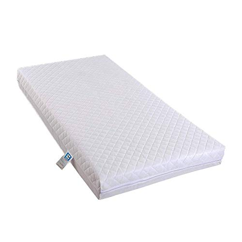AirComfort Eco Breathable Toddler and Baby Quilted Extra Thick Depth Cot Mattress (140 x 70 x 13 cm)