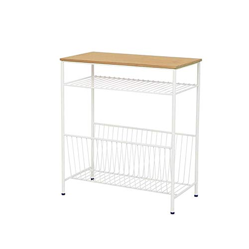 Mesa de café, mesa auxiliar, mesita de noche, mesa de centro, armario lateral hueco, mesa auxiliar de hierro, madera y metal, mesa cuadrada de arte, mesa de centro de 2 colores Color: negro, tamaño: