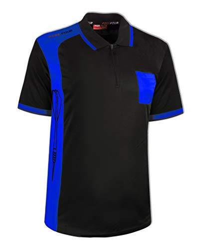 FossFour Dart - Shirt Club, Größe:M, Farbe:schwarz/royal