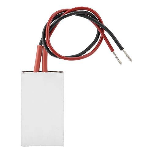 Esenlong 5028.5mm Aluminum Housing PTC Heating Element Plate Thermostatic Heater(12V/70℃) (RED Black)