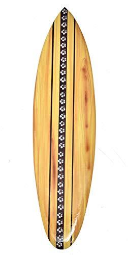 Interlifestyle Frangipani - Tabla de surf con diseño de flores (80 cm, madera, para colgar)
