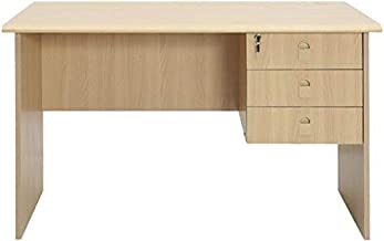 Office Table Wooden 120 x 65 cm Beige