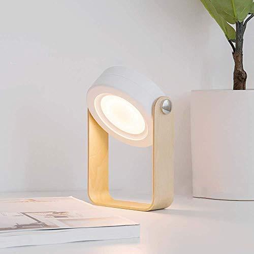 LLLKKK Creativa lámpara de noche con enchufe, lámpara decorativa de bajo consumo, lámpara LED de escritorio, para uso en exteriores, portátil, lámpara (color blanco)