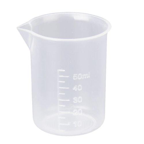 Snner 50 ml Transparente Kunststoff Labor Messbecher Werkzeug
