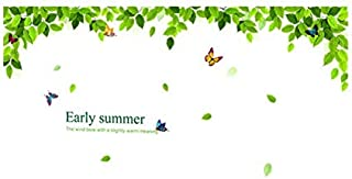 Home Wall Decor Removable 3D DIY Green Leaf Large Size Decal Wallpapers Sticker