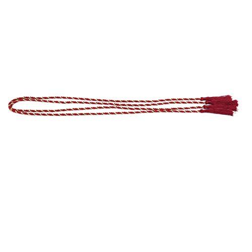 WEIHEEE 2 Stück Polyester Vorhang Seil Holdback Fenster Perlen Seil Home Wohnzimmer Dekoration,Kastanienbraun