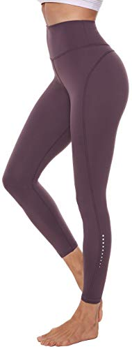 Persit Damen 7/8 Leggings, Sporthose Yogahose Sport Leggins für Damen Yoga Tights,S,Rotlila